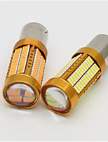 2pcs 106 SMD4014 1156 Turn Siganal Lamp 1500Lumens Brake Auto Bulbs 6000K T20 Car Light DC12V