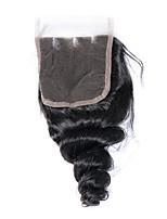 8-20inch blanqueado nudos cierre de encaje cierre de onda suelta mejor cierre virginal brasileño cierre de tres piezas de encaje