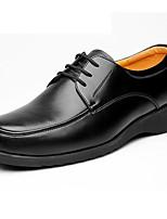 Для мужчин Туфли на шнуровке Формальная обувь Кожа Весна Осень Повседневные Формальная обувь На плоской подошве Черный Менее 2,5 см