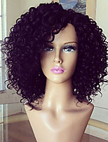 180% Density Brazilian Virgin Hair Glueless Lace Wigs Kinky Curly Lace Front Human Hair Wigs Short Virgin Hair Curly Wig for Black Woman
