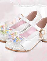 Girls' Flats Comfort Flower Girl Shoes Synthetic Microfiber PU Summer Fall Casual Dress Comfort Flower Girl Shoes Buckle Flat Heel