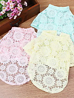 Dog Shirt / T-Shirt Dog Clothes Casual/Daily Solid Light Blue Blushing Pink Yellow