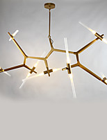 14 головок после современного алюминия со стеклянной люстрой лампа для спальни / столовой комнаты / бар / кофейная комната украшают
