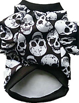 Dog Costume Dog Clothes Cosplay Halloween Skulls White Black Rainbow