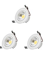 9W COB Dimmable LED Downlights LED Bulb Included 3 pcs