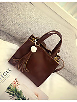 Women Shoulder Bag PU All Seasons Casual Outdoor Square Zipper Wine Brown Black