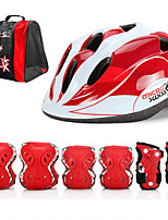 Kids Protective Gear Knee Pads + Elbow Pads + Wrist Pads Skate Helmet for Skateboarding Inline Skates Adjustable Eases pain Breathable 7
