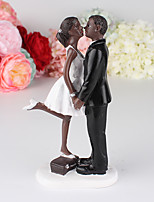 Black Stand On Box Doll Cake  Topper Decoration