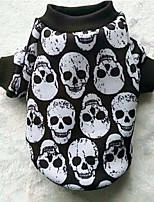 Hund Mäntel Pullover Hundekleidung Lässig/Alltäglich Totenkopf Motiv Schwarz/Weiß