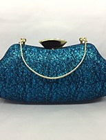 Women Evening Bag Metal All Seasons Event/Party Horizontal Push Lock Fuchsia Silver Green Champagne Blue