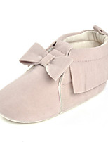 Baby Flats Comfort Fabric Spring Fall Wedding Casual Outdoor Party & Evening Comfort Bowknot Flat Heel Blushing Pink Light Grey Beige Flat