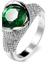 Per donna Struttura dell'anello Fedine Anello Zircone cubico StrassClassico Circolare Originale Geometrico Formale Elegant Duraturo Di
