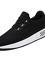 Men's Athletic Shoes Comfort Light Soles Spring Fall Tulle Running Shoes Athletic Casual Outdoor Lace-up Flat Heel Black Gray Blue 1in-1