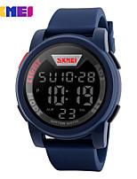 SKMEI Homens Relógio Esportivo Relogio digital Digital Silicone Banda Preta Azul Verde