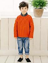 Para Meninos Jeans Desenhos Animados Estampado Todas as Estações Algodão