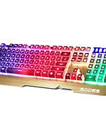 SADES 104Keys USB Backlit Keyboard With 180CM Cable