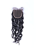 Top Quality New Fashion Grade 8A Natural Black Natural Wave Brazilian Human Hair Closures Free/Middle/3 Part 4*4 Swiss Lace Closures with Baby Hair