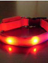 Colliers Portable Eclairage LED Sécurité Ajustable Couleur Pleine Nylon