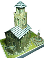 DIY KIT 3D Puzzles Paper Model Toys Famous buildings Church Architecture 3D DIY Simulation Not Specified Unisex Pieces