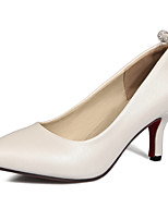 Women's Heels Basic Pump Summer Fall Leatherette Wedding Casual Dress Party & Evening Office & Career Stiletto Heel White Blushing Pink