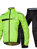 POLE Riding Motorcycle Raincoat Rain Pants Set Single Reflex Split Electric Car Raincoat  Adult