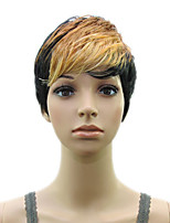 Synthetic Short Curly Layered Blonde Wig Woman  Hair Wigs  High Temperature Fiber