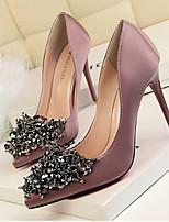 Damen High Heels Fersenriemen PU Frühling Normal Fersenriemen Silber Grau Purpur Rot Rosa 7,5 - 9,5 cm