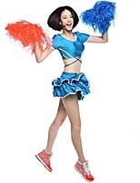 Kostýmy pro roztleskávačky Úbory Dámské Taneční vystoupení Akryl Plisované Barevně dělené 2 kusy Krátké rukávy VysokýSukně Vrchní část