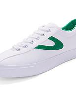Для мужчин Кеды Удобная обувь Полиуретан Весна Лето Повседневные На низком каблуке Черный Красный Зеленый Менее 2,5 см