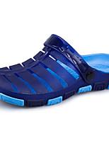 Men's Sandals Comfort PU Summer Outdoor Comfort Dark Brown Blue Green Gray Flat