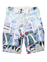 Homens Calcinhas, Shorts & Calças de Praia Estampado