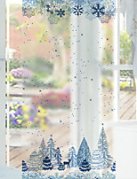Window Film Window Decals Style Creative Snow Decoration Grind Arenaceous PVC Window Film- (60 x 116)cm