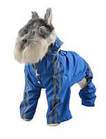 Chien Imperméable Vêtements pour Chien Décontracté / Quotidien Uni Jaune Rouge Vert Bleu