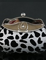 Women Evening Bag Velvet Spring/Fall All Seasons Wedding Event/Party Casual Sports Formal Outdoor Office & Career Circle Leopard