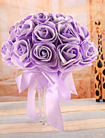 Wedding Flowers Bouquets Wedding Elastic Satin Foam 8.66