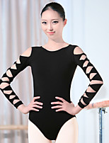 Ballet Leotards Women's Training Spandex 1 Piece Long Sleeve High