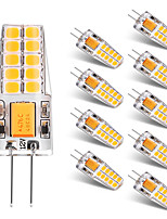 2W LED à Double Broches T 20 SMD 2835 300 lm Blanc Chaud Blanc V 10 pièces