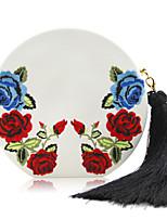 L.WEST Woman Fashion Luxury High-grade Flower Embroidery Tassel Evening Bag