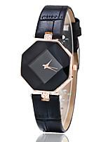 Жен. Модные часы Повседневные часы Наручные часы Кварцевый Имитация Алмазный Кожа Группа Креатив Черный Белый Синий Красный Коричневый