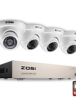 ZOSI® 4CH 1080P Full HD Video Security System with 4x 2.0MP 1080P Weatherproof Dome Cameras 1TB Hard Drive