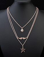 Layered Necklace Moustache Sexy Vintage  Rock Euramerican OL Pendant Chain Necklaces Women's Party Halloween  Gift Movie Jewelry