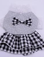 Dog Dress Dog Clothes Casual/Daily Princess Ruby Black