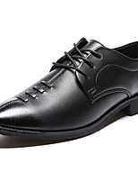 Men's Oxfords Comfort Fabric Summer Fall Casual Walking Comfort Lace-up Flat Heel Blue Black Flat