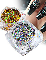 1g/Bottle Fashion Nail Art Sparkling Paillette Gold/Silver Glitter Hexagon Design Sequins 3D Thin Slice Nail Decoration For DIY Nail Art Beauty 040T