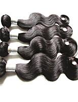 cheap 6a brazilian human hair body wave 400g 4pieces lot natural color 100g/bundle 100% virgin hair material made soft texture