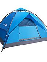 3-4 personnes Tente Double Tente automatique Une pièce Tente de camping 1500-2000 mm Térylène Fibre de verreEtanche Résistant à la