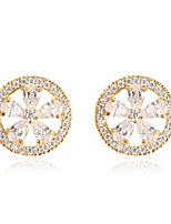 Women's Stud Earrings Fashion Classic Zircon Alloy Geometric Jewelry For Wedding Party Engagement Gift Evening Party