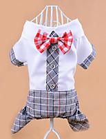 Chien Combinaison-pantalon Vêtements pour Chien Décontracté / Quotidien Nœud papillon