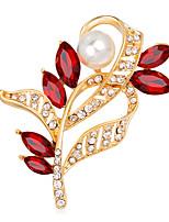 בגדי ריקוד נשים בנות תפס לשיער אופנתי Euramerican עבודת יד פנינה זכוכית סגסוגת Flower Shape תכשיטים עבור אירוע מיוחד מסיבה יומי טקס קזו'אל