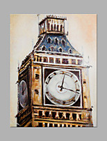 IARTS® Modern Abstract Oil Painting Classical London Big Ben Picture with Stretched Frame Handmade Oil Painting For Home Decoration Ready To Hang